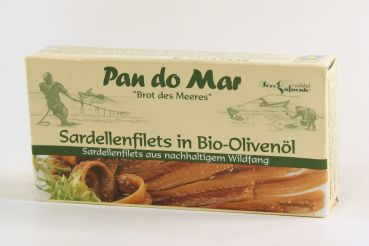 PAN DO MAR Sardellenfilets in BioOlivenöl 50 g